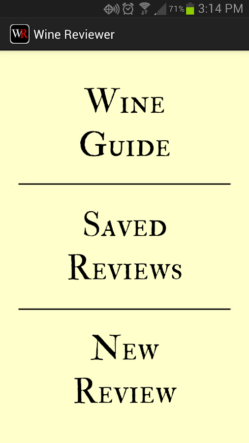 Wine Reviewer- screenshot