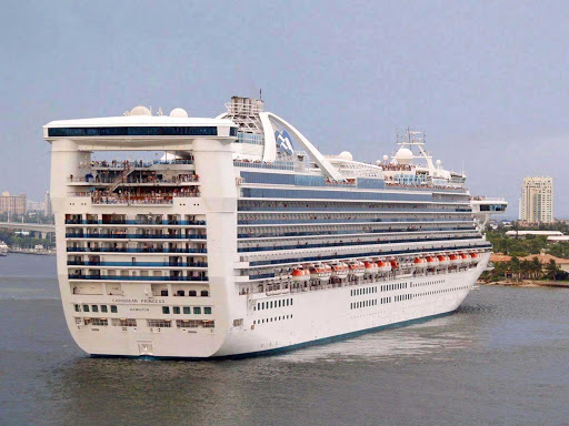 Caribbean-Princess - Caribbean Princess in port.