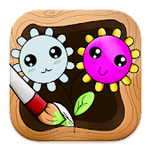 Coloring: Flowers for Girls