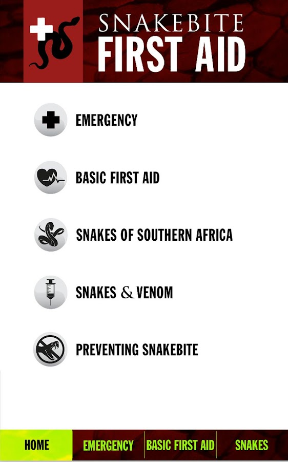 Snakebite First Aid Africa- screenshot