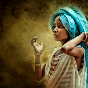 Kampuchean Girl by Teng Formoso - Digital Art People