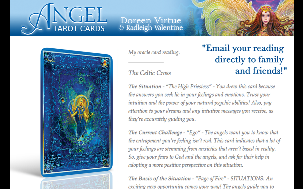 Angel Tarot Cards- screenshot
