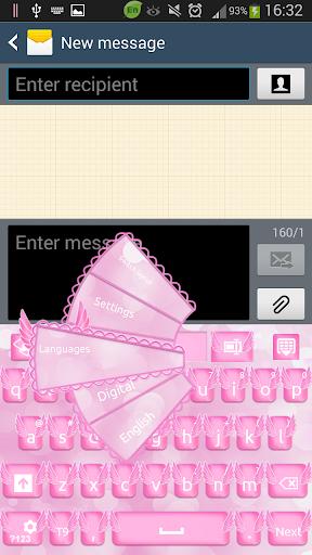 粉红天使键盘