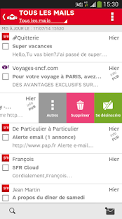 SFR Mail Capture d'écran