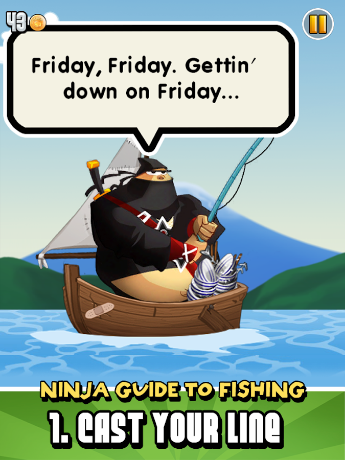 Ninja Fishing- screenshot