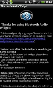 Bluetooth Audio Widget - screenshot thumbnail