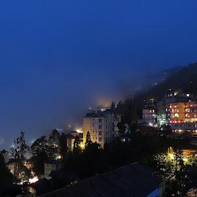 Night At Gangtok by Asim Mandal - City,  Street & Park  Night