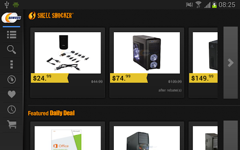 Newegg for Google TV- screenshot thumbnail