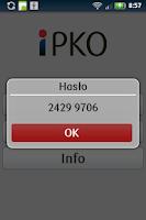 Screenshot of iPKO