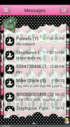 SkullBling2 GO SMS THEME
