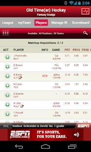 ESPN Fantasy Hockey Screenshot 4