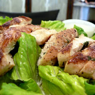 Lime Grilled Chicken Caesar Salad.