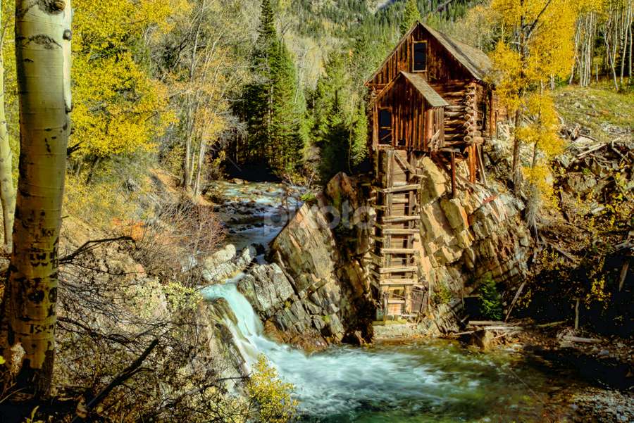 The Old Mill by Roxie Crouch - Buildings & Architecture Decaying & Abandoned ( building, marble, autumn, crystal mill, fall, crystal river, colorado, compressor, aspen, decay,  )