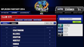 Screenshot of NFLRUSH Fantasy Football