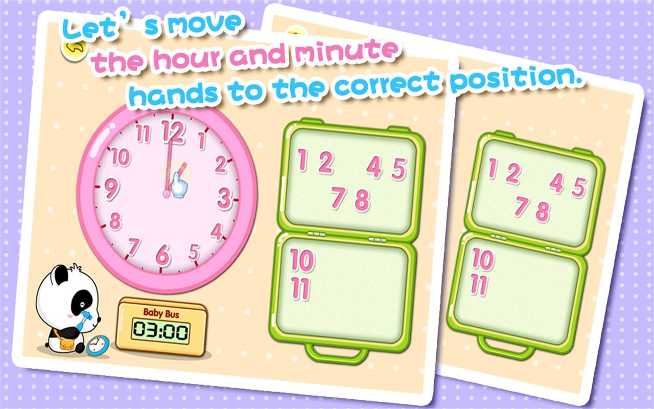 Babys Learning Clock - BabyBus - screenshot