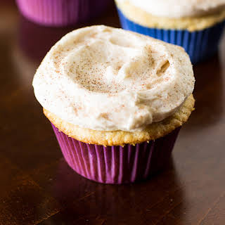 Snickerdoodle Cupcakes with Cinnamon Frosting.