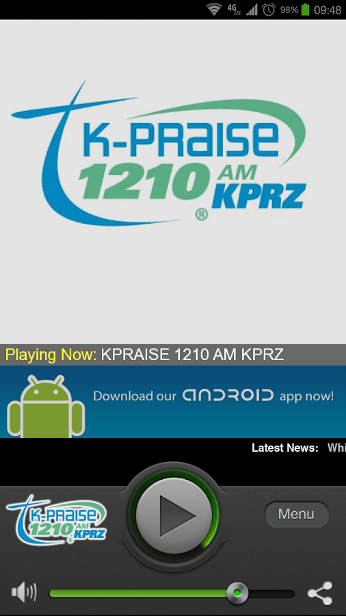 KPRAISE 1210 AM KPRZ - screenshot
