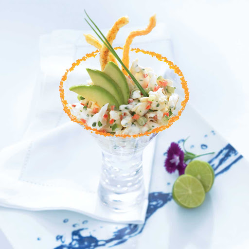 Blu Lump Crab Martini - You'll appreciate the Celebrity Cruises chefs' creative touches to classic dishes like this Lump Crab Martini entree. Find it in Blu.