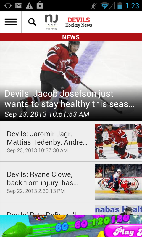 NJ.com: New Jersey Devils News - screenshot