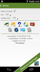 Geocaching Widget - screenshot thumbnail