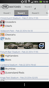 Super Rugby Match Centre - screenshot thumbnail