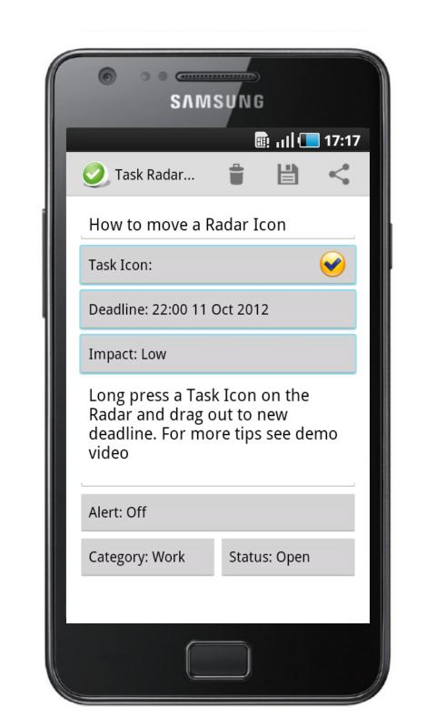Task Radar - Task List- screenshot