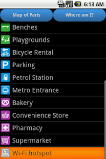 Paris Amenities Map- screenshot thumbnail