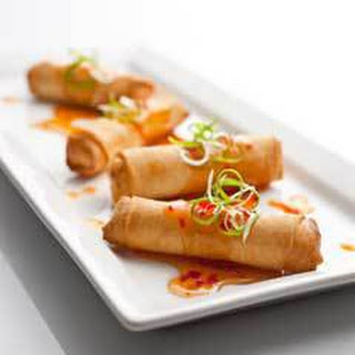 Spring Rolls With Asian Dipping Sauce.