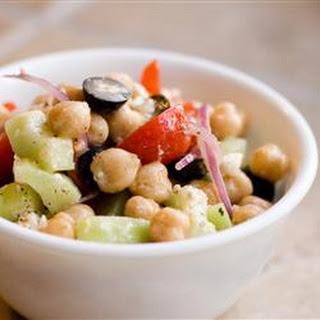 Greek Garbanzo Bean Salad.