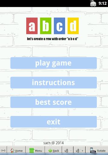 row arrange : puzzle game