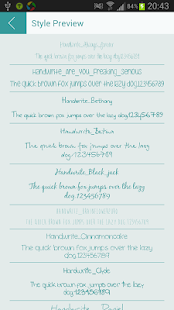 Handwrite font for Flipfont
