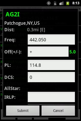 RFinder Worldwide Repeater Dir - screenshot