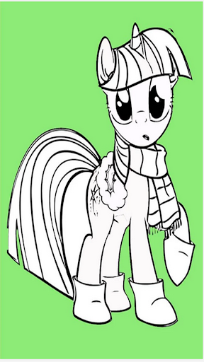 Pony coloring