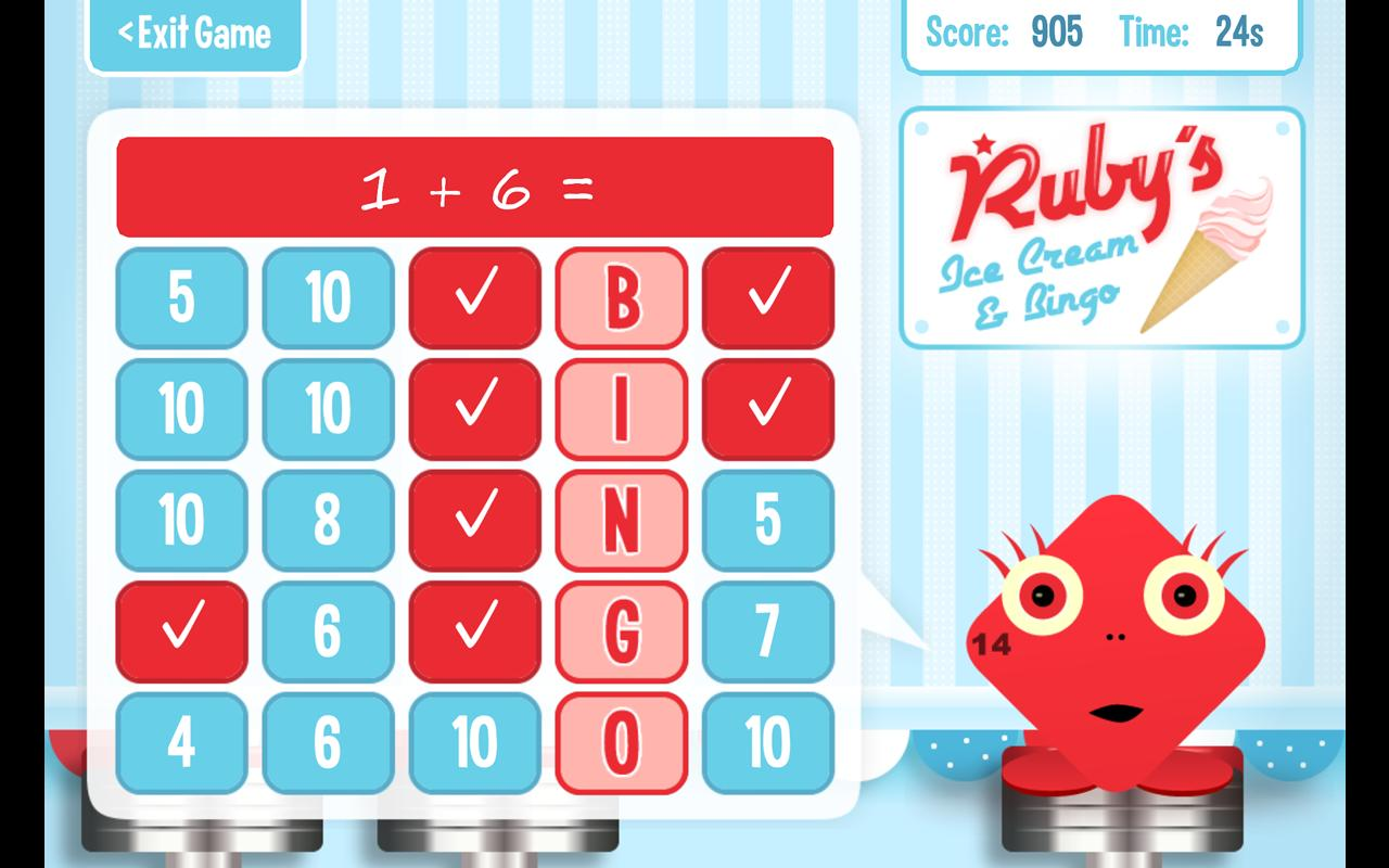 Squeebles Maths Bingo - screenshot