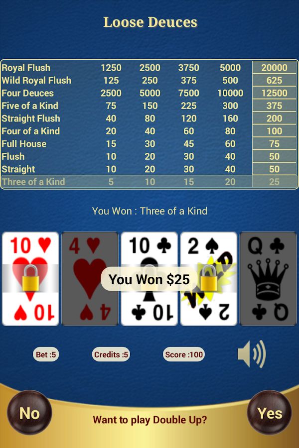 Loose Deuces Poker- screenshot