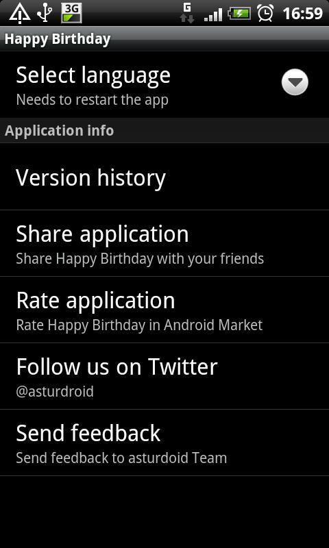 Happy birthday- screenshot