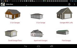 24 x 24 garage plans blueprint android app on appbrain for Garage design app