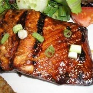 Honey-Ginger Grilled Salmon.