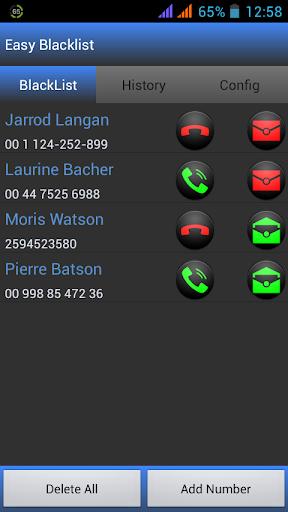 Easy BlackList - Call Sms -