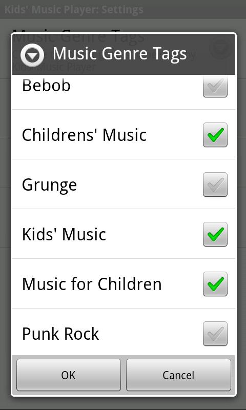 Kids' Music Player - screenshot