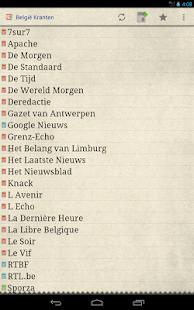 België Kranten - screenshot thumbnail