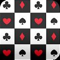 cards wallpaper black & white icon