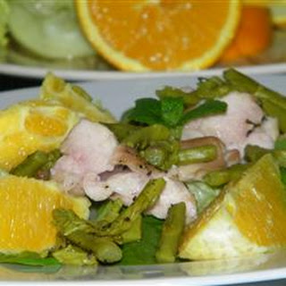 Grilled Mojo Chicken Salad With Asparagus and Oranges