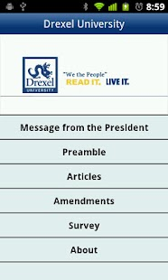 Drexel U.S. Constitution- screenshot thumbnail
