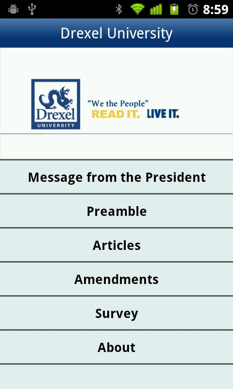 Drexel U.S. Constitution- screenshot