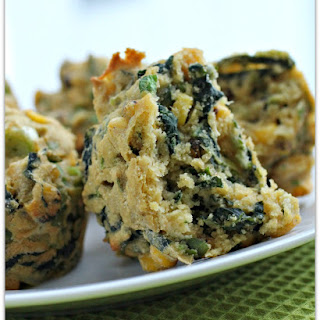 Kale and Poblano Stuffed Cornbread Muffins