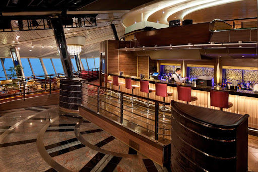 Rhapsody-of-the-Seas-Viking-Crown - Share a cocktail and the panoramic sea vistas from the Viking Crown Lounge, on deck 11 of Rhapsody of the Seas.