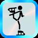 フィギュアスケート棒人間 スケートの無料ゲーム