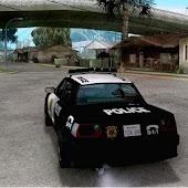 Simulation police car racing