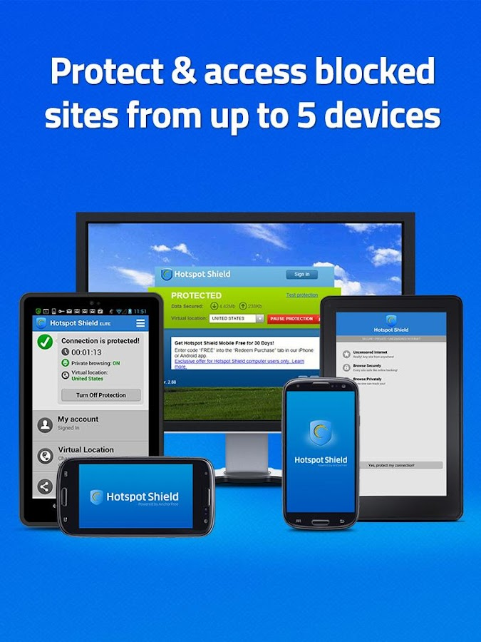 Hotspot Shield VPN for Android - screenshot